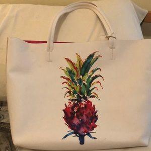 Vince Camuto white tote bag